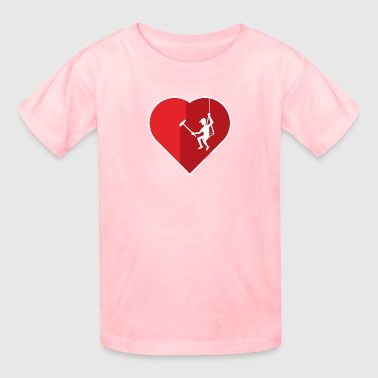 Window Cleaning Heart cleaning by a professional window cleaner - Kids' T-Shirt