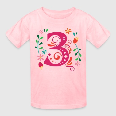 3rd Birthday Girls Party 3 Year Old - Kids' T-Shirt