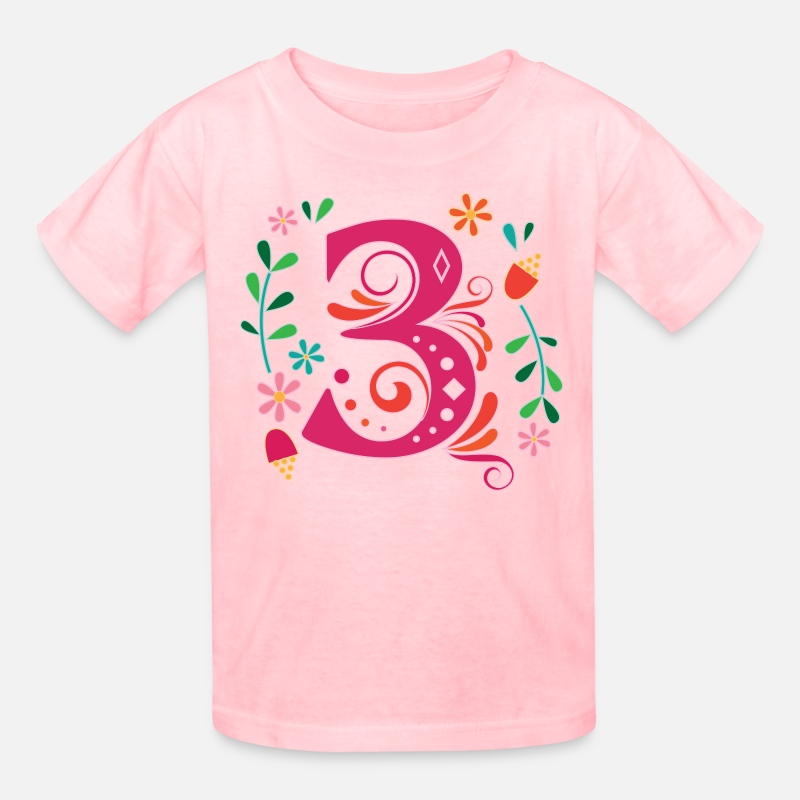 3rd Birthday Girls Party 3 Year Old Kids T Shirt