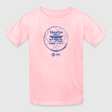 Education is the most powerful weapon (Blue) - Kids' T-Shirt