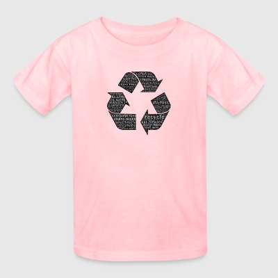 Recycling - Typography - Kids' T-Shirt