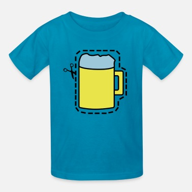 Cut Out Cut Out Beer - Kids' T-Shirt