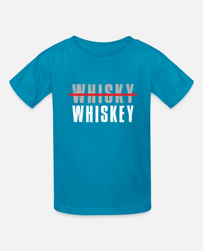 Drunkard T-Shirts - Whiskey Whisky Alcohol Drinking Alcoholic Gift - Kids' T-Shirt turquoise