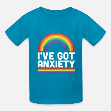 54a301ee8129 I've Got Anxiety Social Anxiety Rainbow Positivity Kids' Hoodie ...