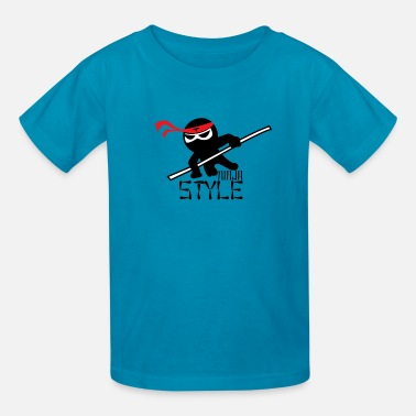 Style Ninja Style Birthday Anime Martial Arts Kid Gift - Kids' T-Shirt