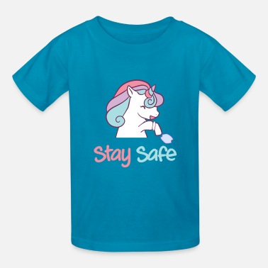 Stay Safe unicorn stay safe - Kids' T-Shirt