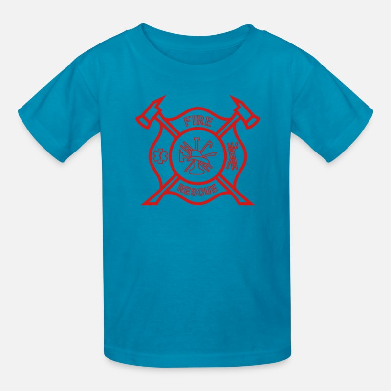 Fire Department T-Shirts - Fire Rescue - Kids' T-Shirt turquoise