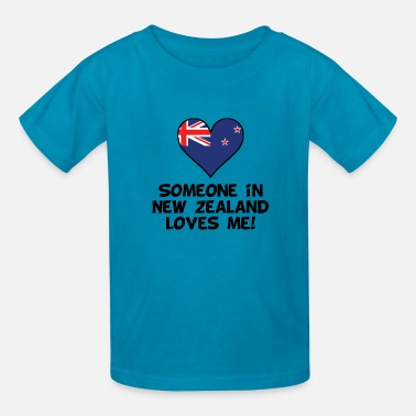 New Zealand Someone In New Zealand Loves Me - Kids' T-Shirt