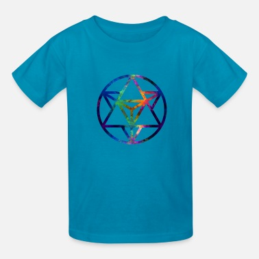 Geometry Fractal Sacred Geometry Star Tetrahedro Enlighten - Kids' T-Shirt