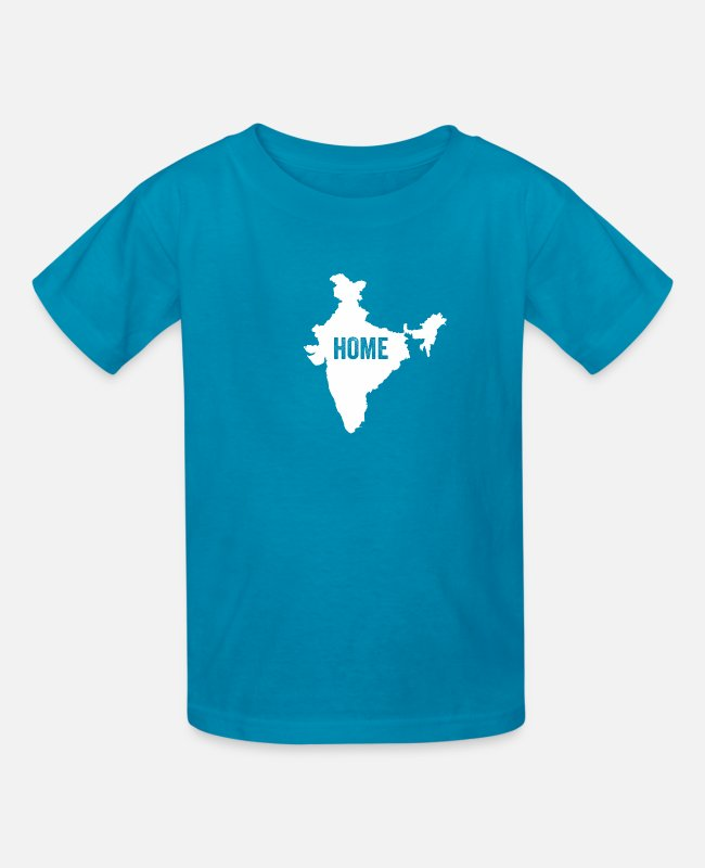 Ahmedabad T-Shirts - India Home - Kids' T-Shirt turquoise