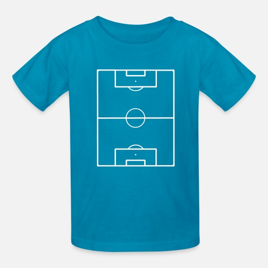 Playing Field T-Shirts - Football Field Soccer Pitch Playing Field Ground - Kids' T-Shirt turquoise
