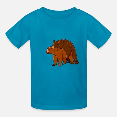 Fan Sex Bear Sex Bear Love Porno Gift - Kids' T-Shirt