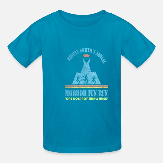 "Fantasy T-Shirts - Middle Earth's Annual Mordor Fun Run ""One Does Not - Kids' T-Shirt turquoise"