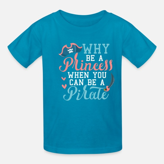 Pirate T-Shirts - Pirate Party Gift - Kids' T-Shirt turquoise