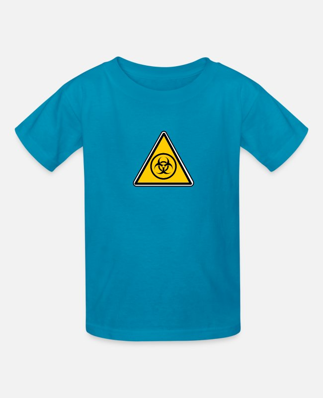 Virus T-Shirts - biohazard warning triangle - Kids' T-Shirt turquoise