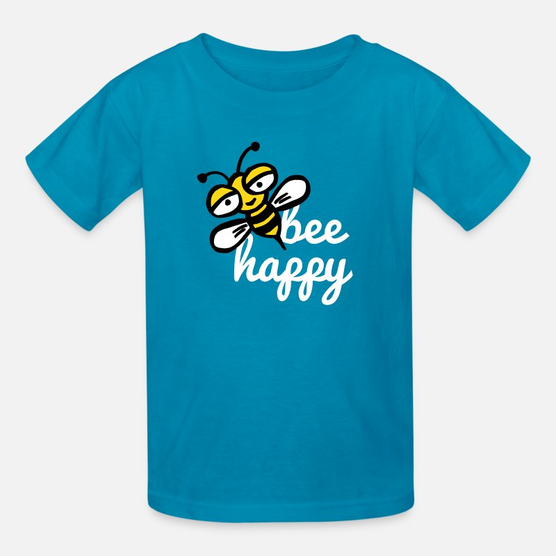 Ape T-Shirts - Happy bee - Kids' T-Shirt turquoise