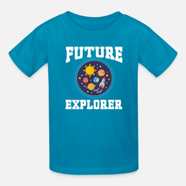 Aerospace Engineering Future Explorer Engineer Space Astronaut - Kids' T-Shirt