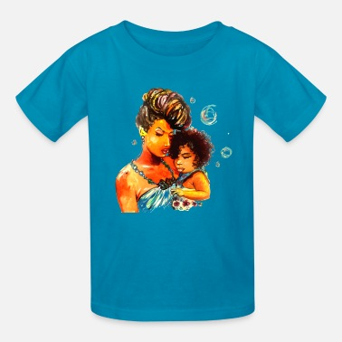 Natural Natural Hair Flawless Curls Mother Daughter Love - Kids' T-Shirt