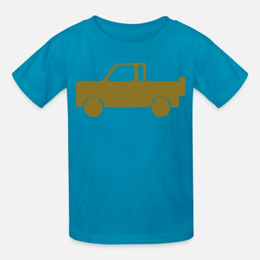 Turquoise Jeep jeep - Kids' T-Shirt