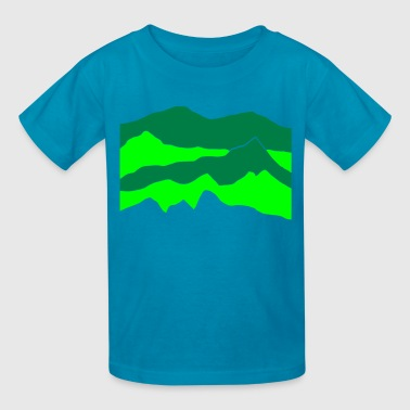 Habitat mountains - hill - nature - waves - water - Kids' T-Shirt