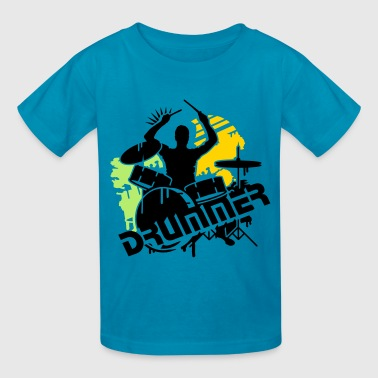 A drummer and his drums - Kids' T-Shirt