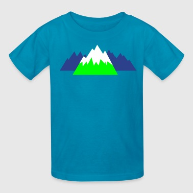 pointy mountains hills snow winter canada - Kids' T-Shirt