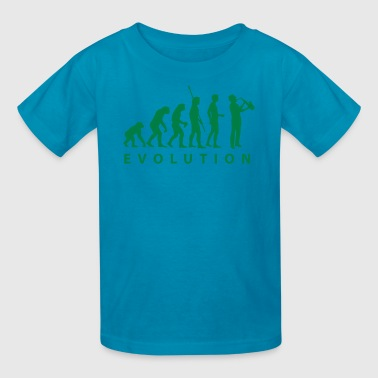 evolution_saxophon - Kids' T-Shirt