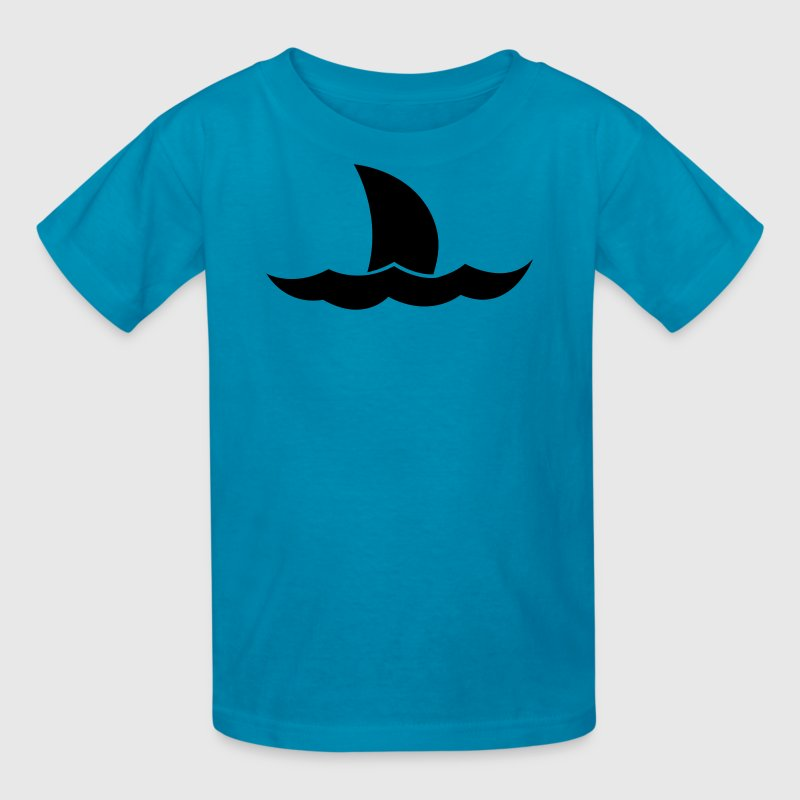 Shark Jaws tail on the ocean waves - Kids' T-Shirt