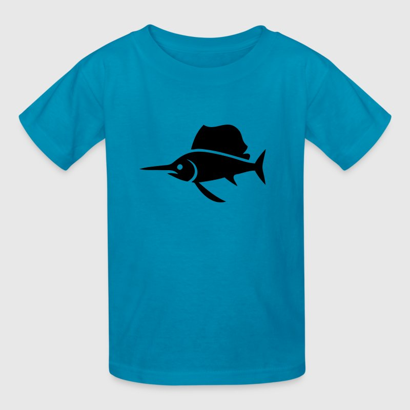 Sailfish (Swordfish) Silhouette - Kids' T-Shirt