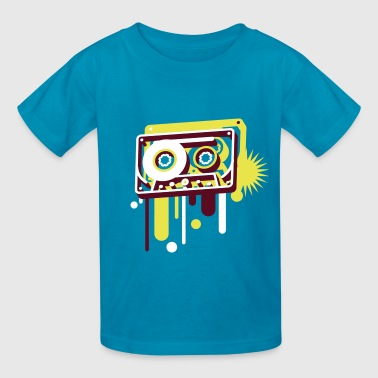 3D music cassette in graffiti style - Kids' T-Shirt