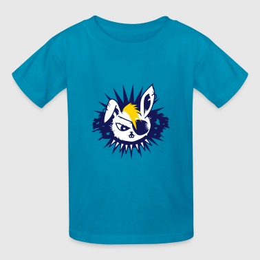 rabbit with an eye patch and a mohawk - Kids' T-Shirt