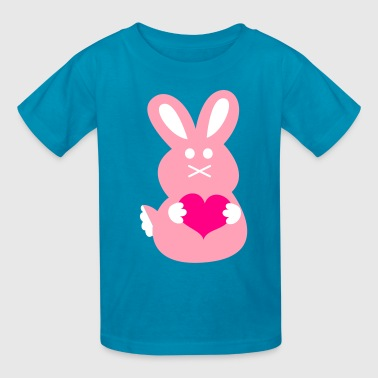 BUNNY LOVE rabbit cute with little love hearts - Kids' T-Shirt