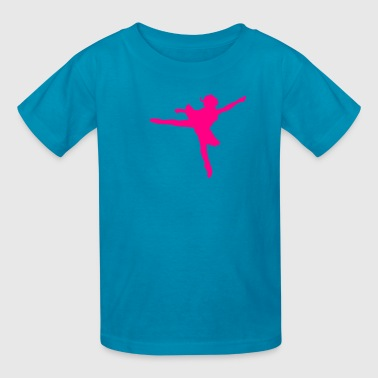 Face Dance A BEAUTIFUL princess ballerina dancing facing right - Kids' T-Shirt