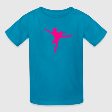 Face Dance ballerina princess dancing facing left - Kids' T-Shirt