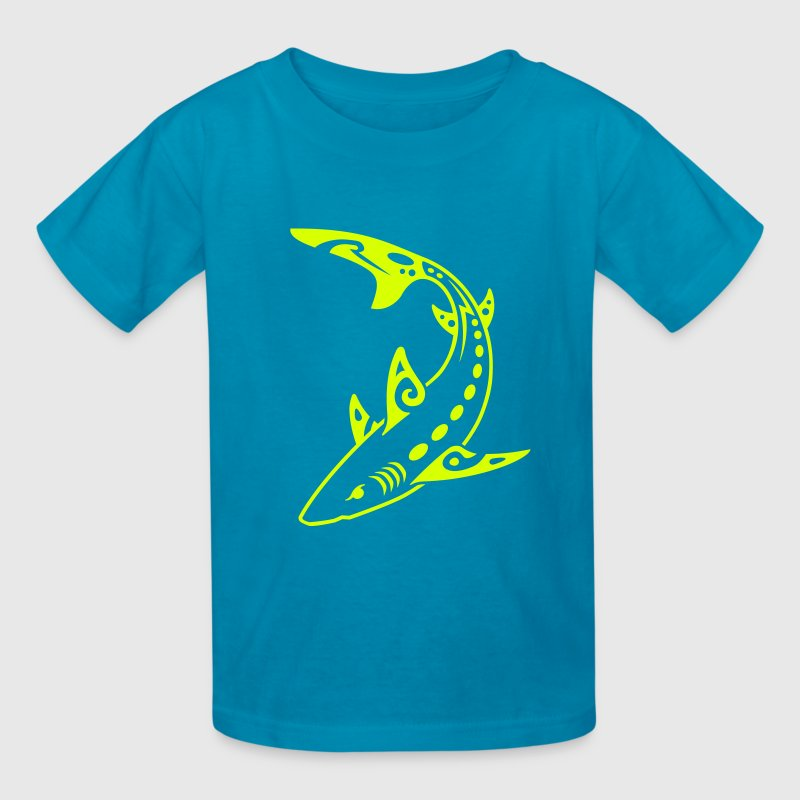 Tribal Shark - Kids' T-Shirt
