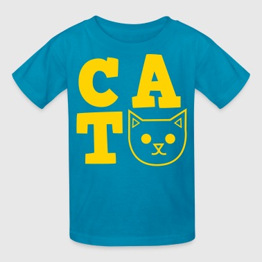 Kitty Symbols & Shapes CAT design TRENDY FUNKY cool - Kids' T-Shirt