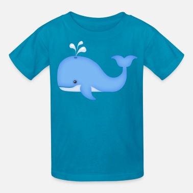 Blue Whale Kids cute whale - Kids' T-Shirt