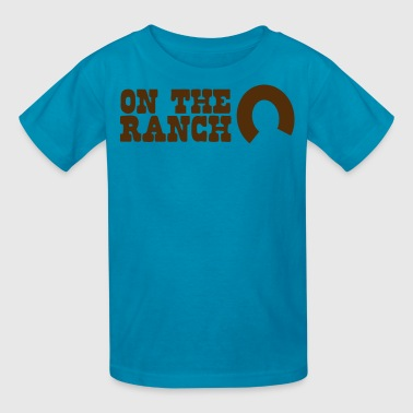 on the ranch - Kids' T-Shirt