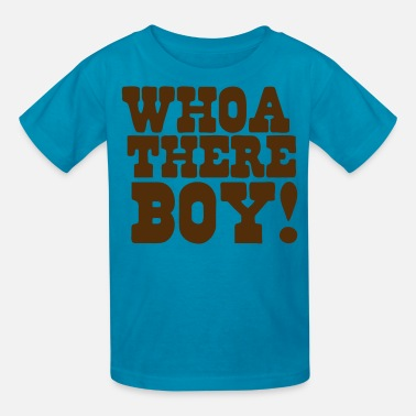 Teeing Off whoa there boy! back off tee - Kids' T-Shirt