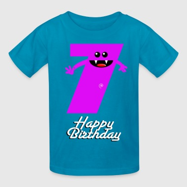 HAPPY BIRTHDAY 7 - Kids' T-Shirt