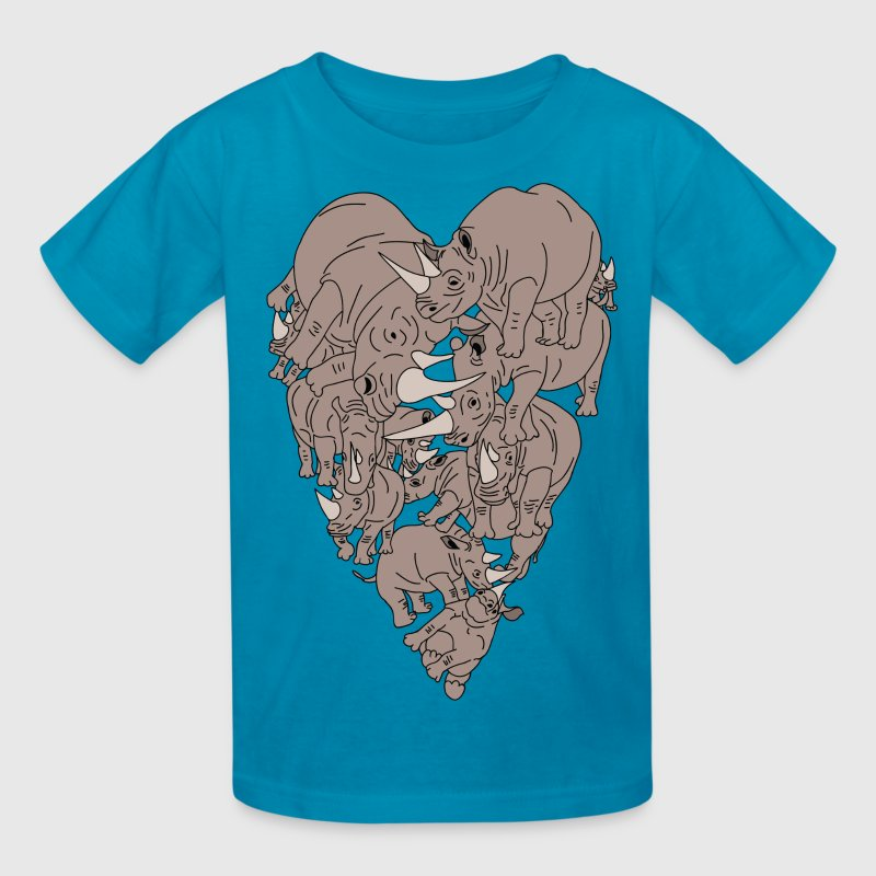 Rhino Heart - Kids' T-Shirt
