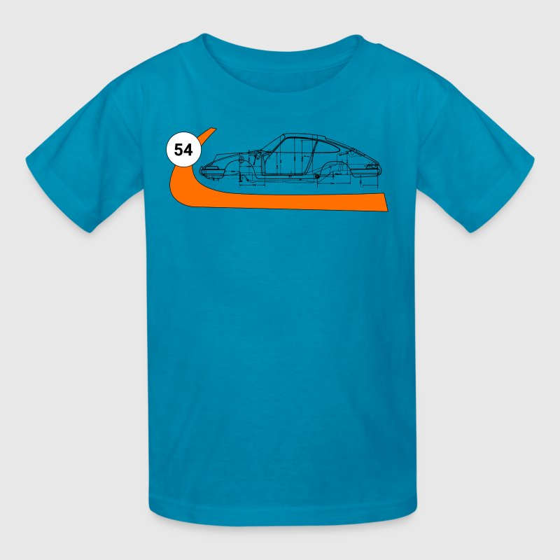 Gulf 911 Race Blueprint - Kids' T-Shirt