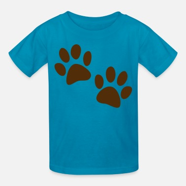 Tiger Paw cute catty cat paws one color - Kids' T-Shirt
