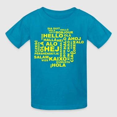 hello in 29 languages - Kids' T-Shirt