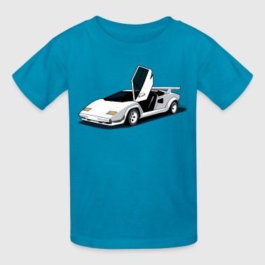 Lambo LP500 S Art (White) - Kids' T-Shirt