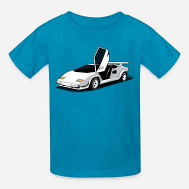 Sports Car Lambo LP500 S Art (White) - Kids' T-Shirt