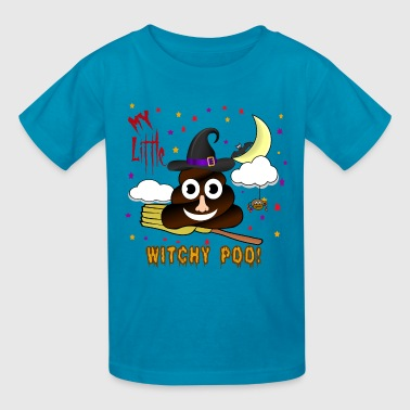 Witch Poop  Shirt, Funny Poo Costume Shirt - Kids' T-Shirt