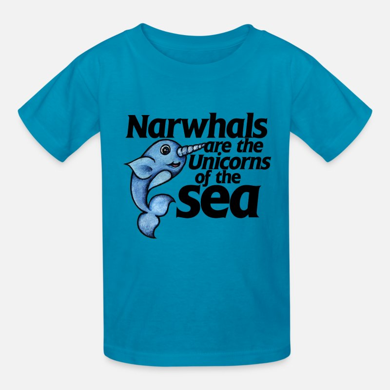 Kids T-Shirts - Narwhals - Kids' T-Shirt turquoise