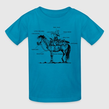 Thelwell Learning Western Riding - Kids' T-Shirt