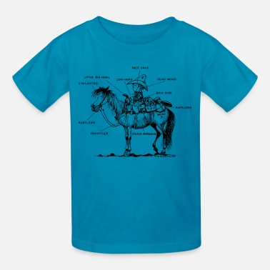 Norman Thelwell Thelwell Learning Western Riding - Kids' T-Shirt